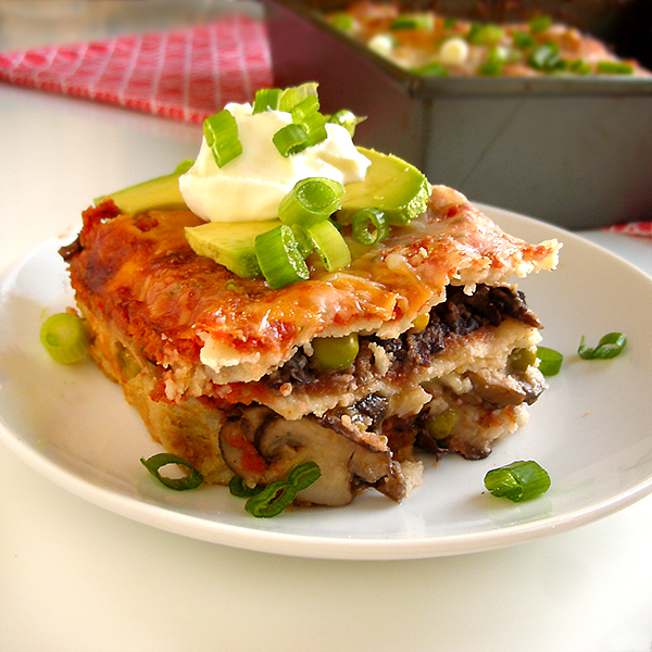 Black Bean and Veggie Tortilla Casserole
