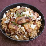 easy and quick mushroom orzo