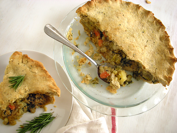 Herbed Crust Veggie Pot Pie