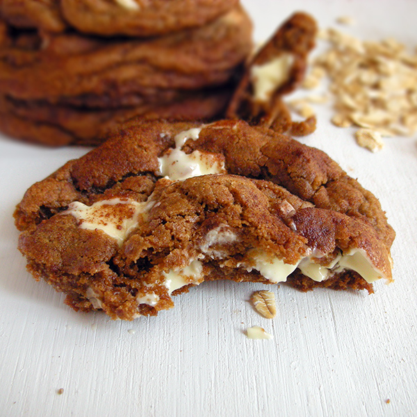 Snickerdoodle White Chocolate Coconut Oil Cookies