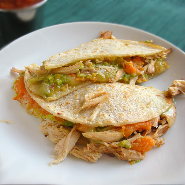 Sweet Potato Avocado Quesadillas