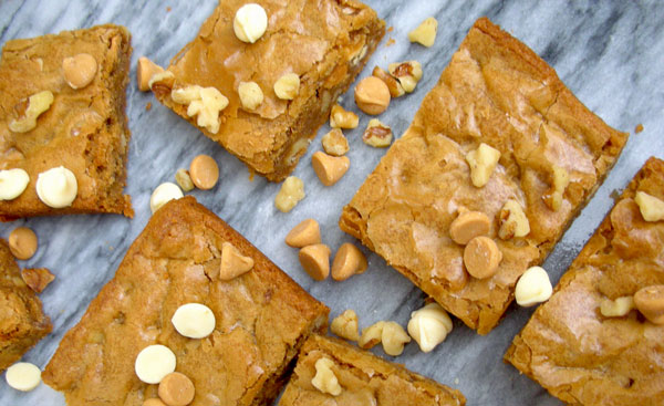 Browned Butter White Chocolate Peanut Butter Blondies