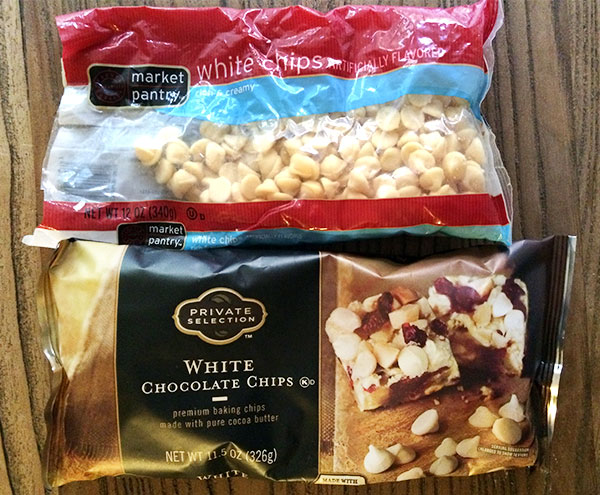 white chocolate and white morsels