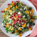 Roasted Brussels Sprouts and Squash with Pomegranate
