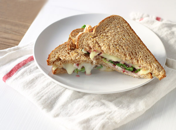 Brie Cranberry Turkey Melt Sandwich