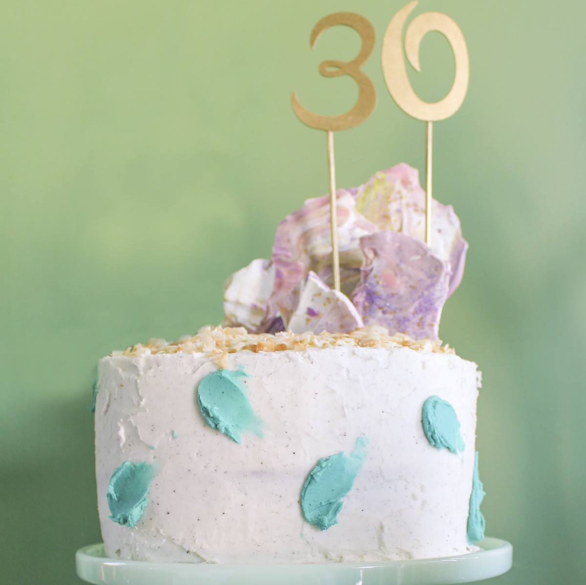 Coconut Passionfruit Birthday Cake