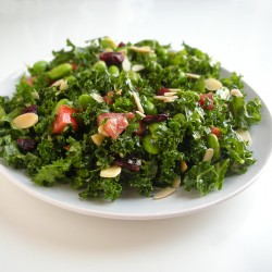 knockoff trader joe's kale and edamame bistro salad